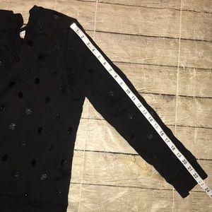 kate spade Sweaters - Kate Spade Glitter Polka Dot Bow Sweatshirt